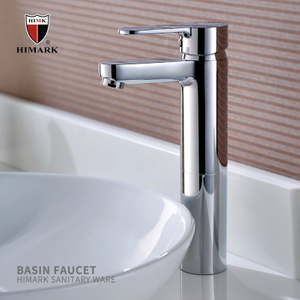 Himark China Brass Sinlge Manija Single Hole Modern Chrome Baño Buque de baño Fregadero Grifo